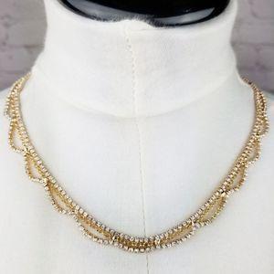 3/$18ot5/$25Gold Glass Diamond Statement Necklace
